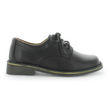 Janna School Shoes in Smooth Black by Wilde
