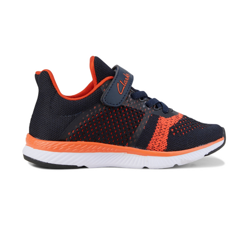 Leon Runners in Navy and Orange from Clarks.