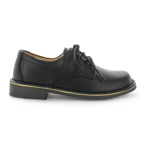 Smooth Black Jezra School Shoes by Wilde