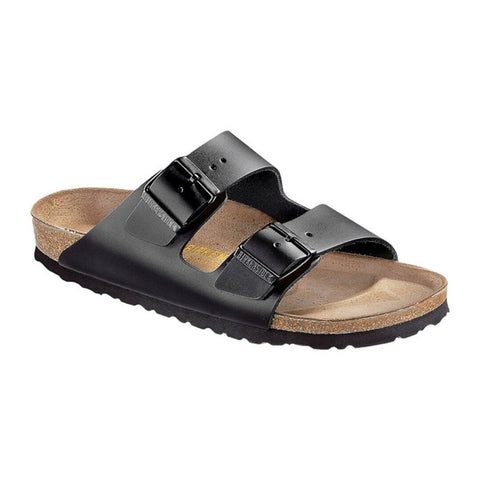 Arizona Narrow Fit Smooth Sandals in Black from Birkenstock