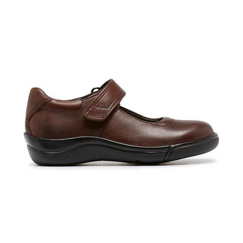 CLARKS PETITE F - BROWN SCHOOL SHOES