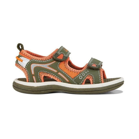 Fear II Khaki/Orange Kids Sandals by Clarks
