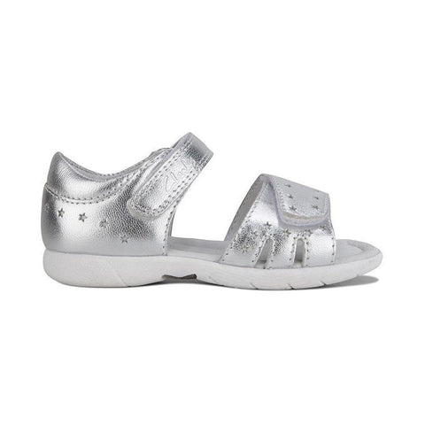 Shimmery Silver Clarks Kids Shoes