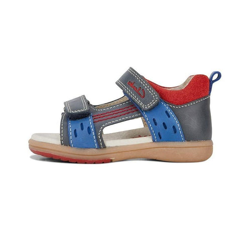 Kirk Kids Sandals in Navy and Red from Clarks