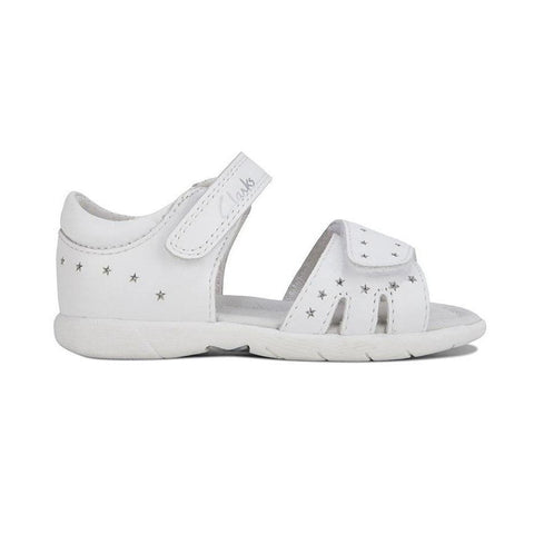 Shimmery White Clarks Kids Shoes