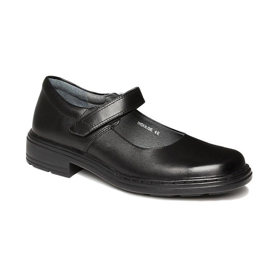 Indulge Junior E School Shoes in Black from Clarks