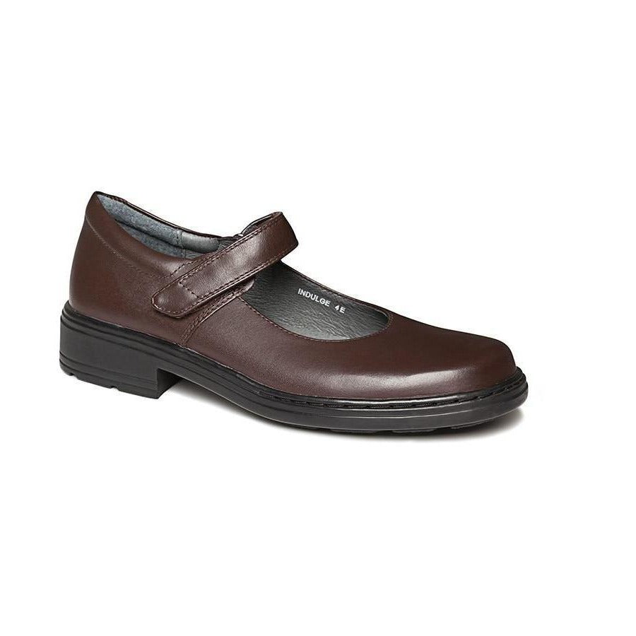 Indulge Junior D Brown School Shoes from Clarks.