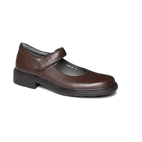 Indulge Junior E School Shoes in Brown from Clarks.