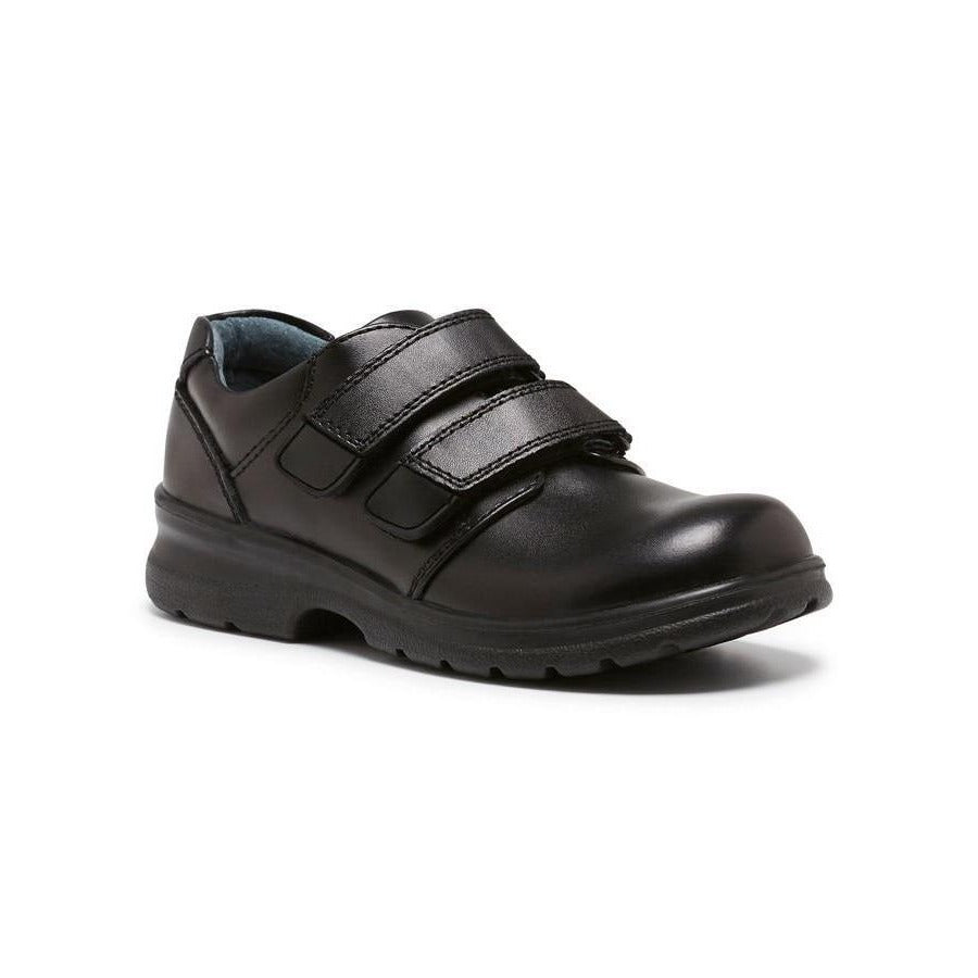 Lochie E School Shoes in Black from Clarks.