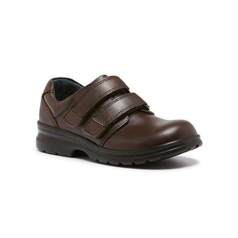 Lochie E School Shoes in Brown from Clarks.