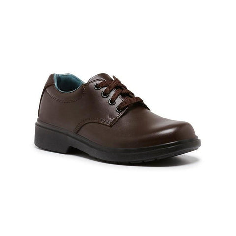 Daytona Brown Youth F Clarks School Shoes