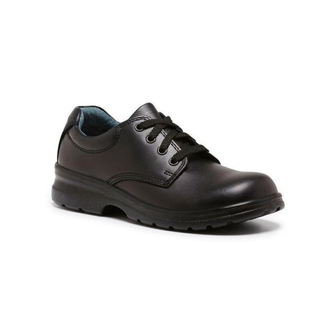 Library E School Shoes in Black from Clarks.