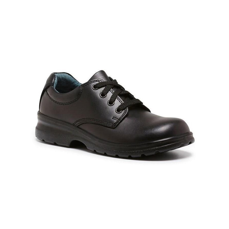 Library D School Shoes in Black from Clarks.