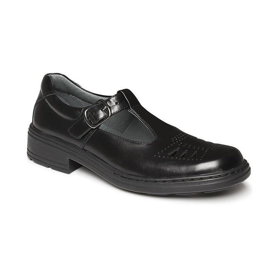 Ingrid Junior E School Shoes in Black from Clarks.