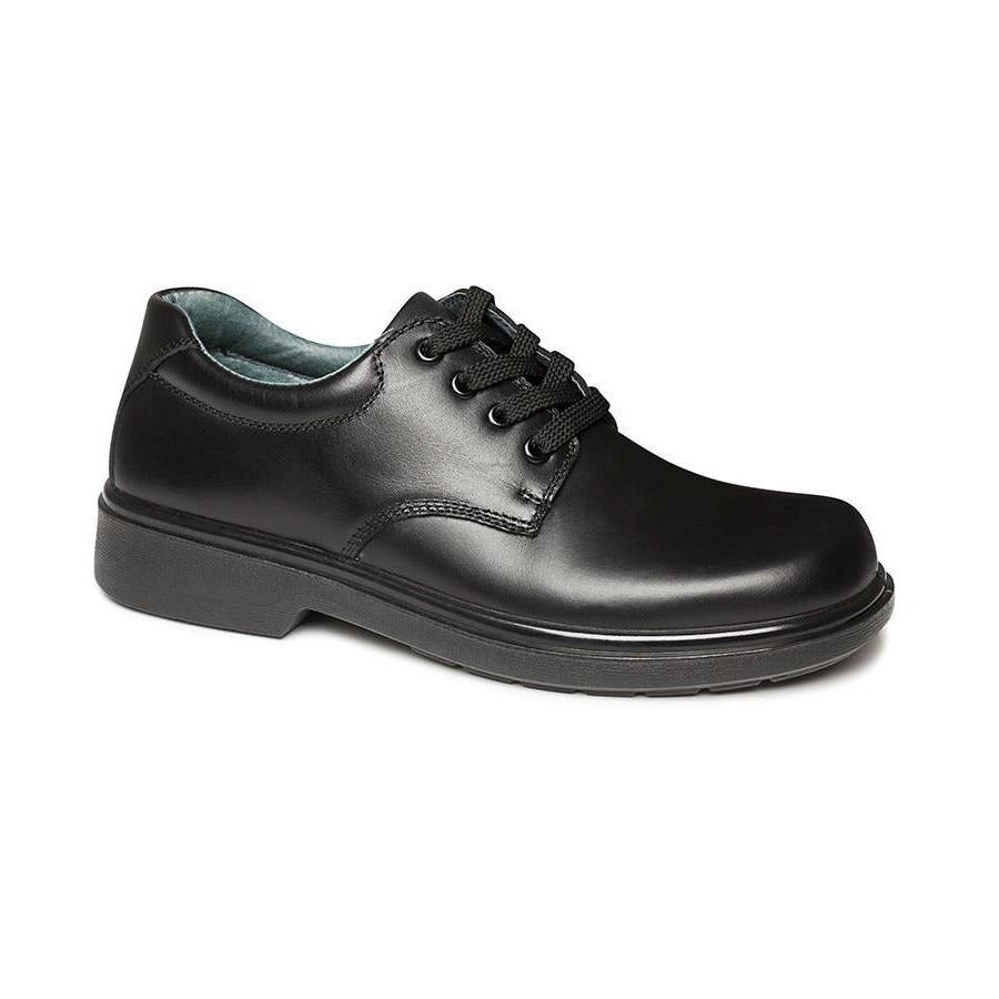 Daytona Black Senior F Clarks School Shoes