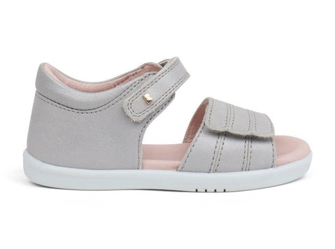 Hampton Sandal in Silver Shimmer from Bobux i-Walk Collection.