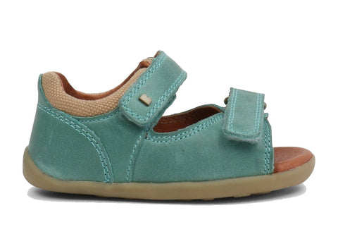 Teal Driftwood Step-Up Sandals from Bobux