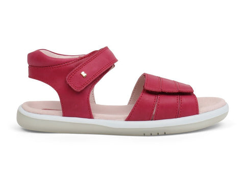 Hampton Sandal in Dark Pink from Bobux Kid+ Collection.