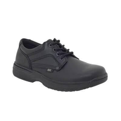 Aero Junior School Shoes in Black by Roc