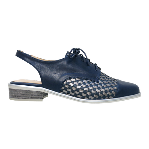 Amish Womens Shoes in Navy Pewter from Bresley