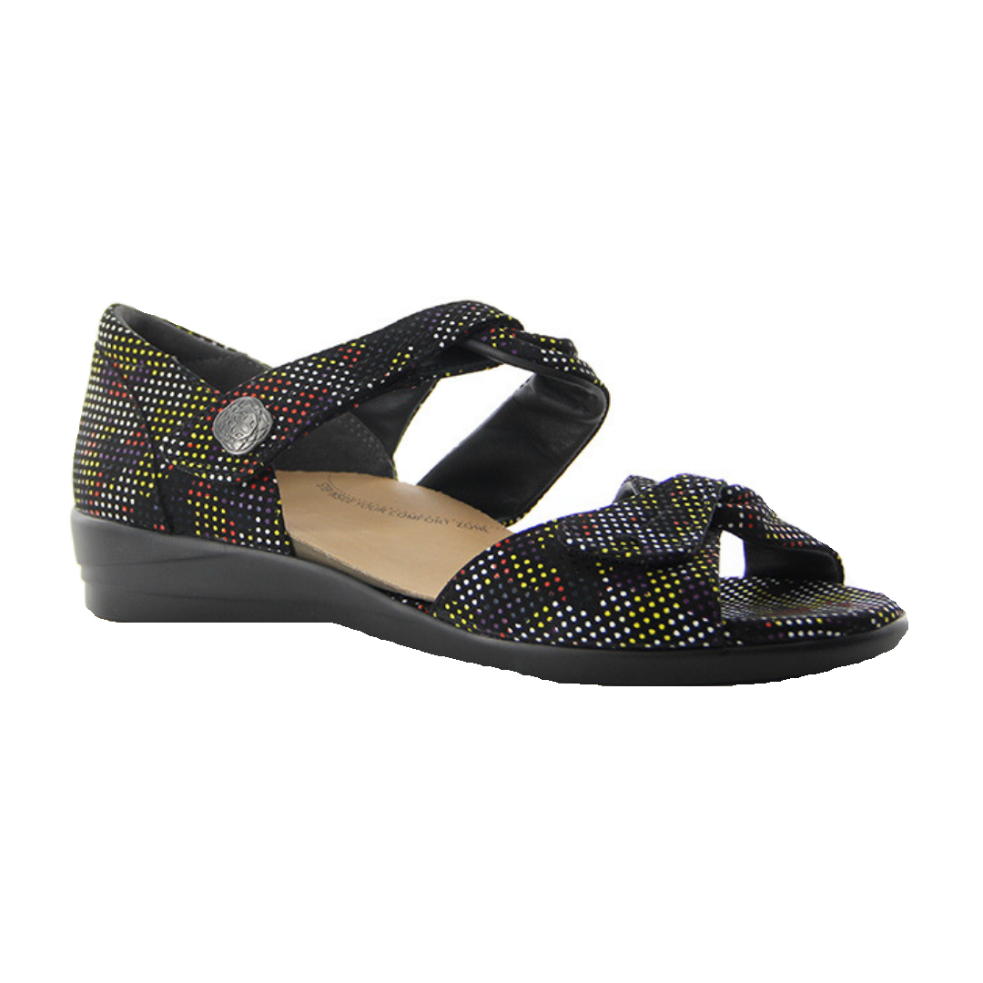 Doxie in Black Spot Print Suede from Ziera