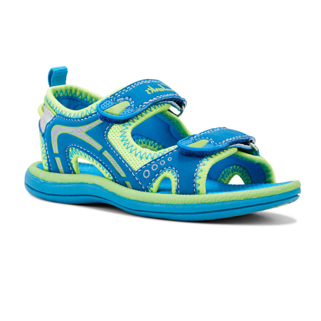 Fear II Sandals in Blue and Lime by Clarks