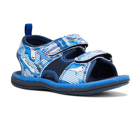 Fred II Shark Print Kids Sandals by Clarks