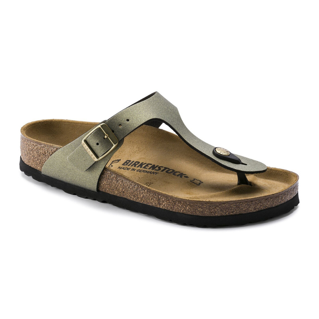 Gizeh Regular Birkenstocks in Stone Gold