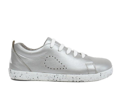 Silver Grass Court Shoes from Bobux Kid+ Collection.