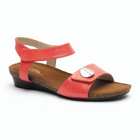 Happy Sandals in Coral from Silver Linings
