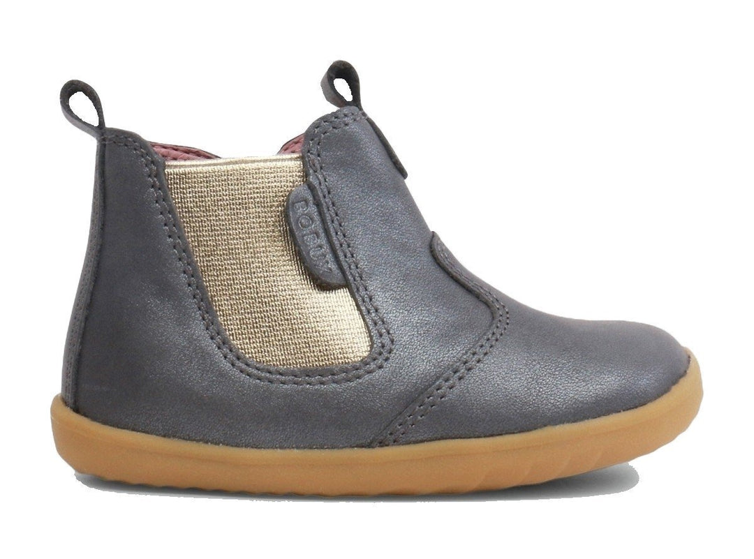 Charcoal Shimmer Jodhpur Step Up Boots from Bobux