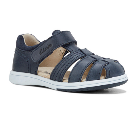 Karl Kids Sandal in Navy from Clarks.