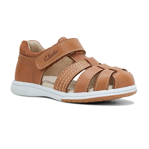 Karl kids sandal in tan from Clarks.