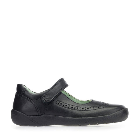 START RITE LIZZY START RITE - BLACK SCHOOL SHOES