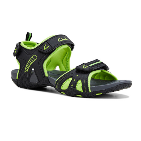 Nail Black and Lime Sandals by Clarks