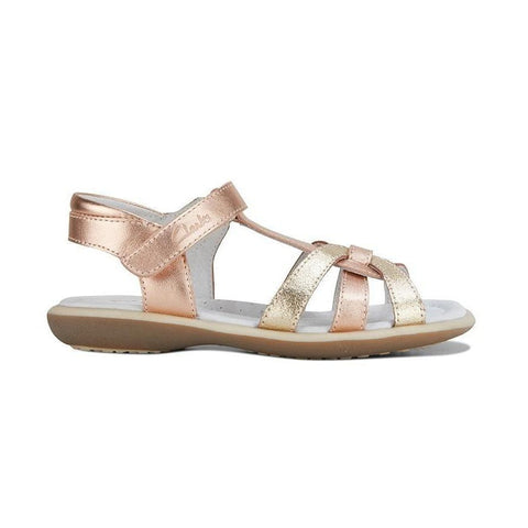 Portia Kids Sandals in Rose Gold from Clarks