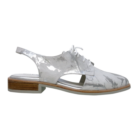 Strauss Lace-Ups in White Leaf from Bresley