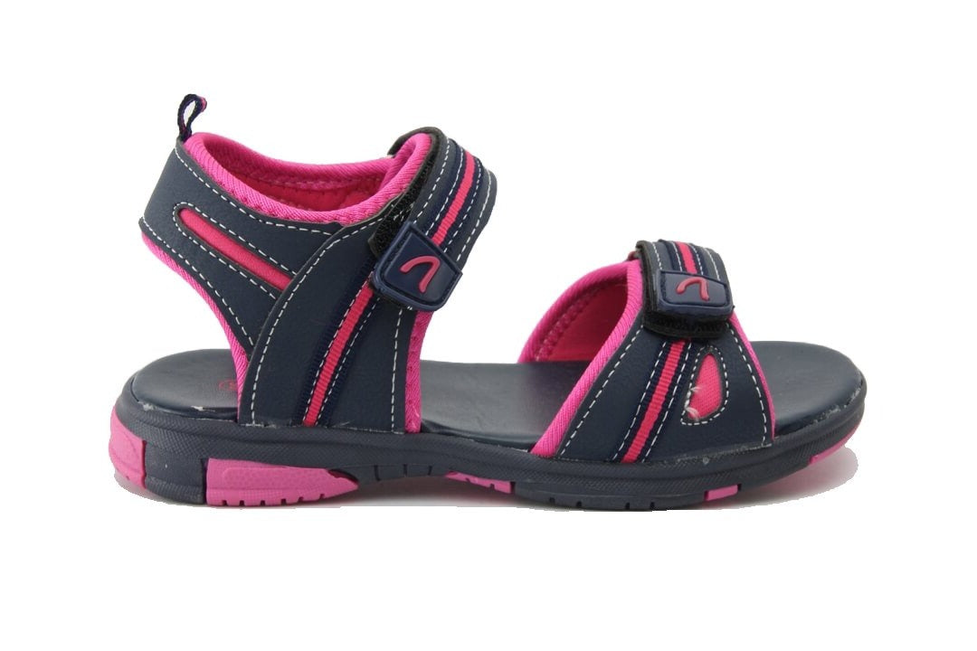 Tickle Casual Kids Sandals in Navy Rose from Clarks.