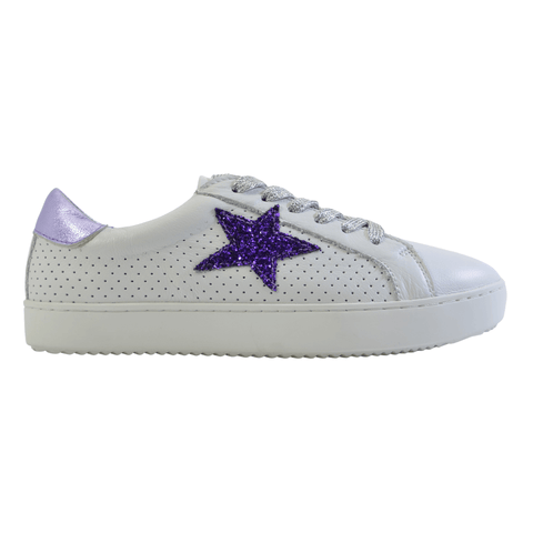 Valdo sneaker in white purple from Alfie & Evie