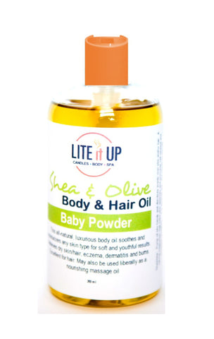 Lite It Up BABY POWDER Shea + Olive Oil for Body and Hair