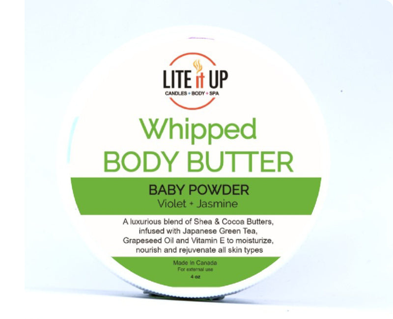 Lite It Up BABY POWDER Whipped Body Butter