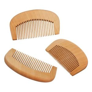 ANTI-STATIC PEACHWOOD BEARD COMB