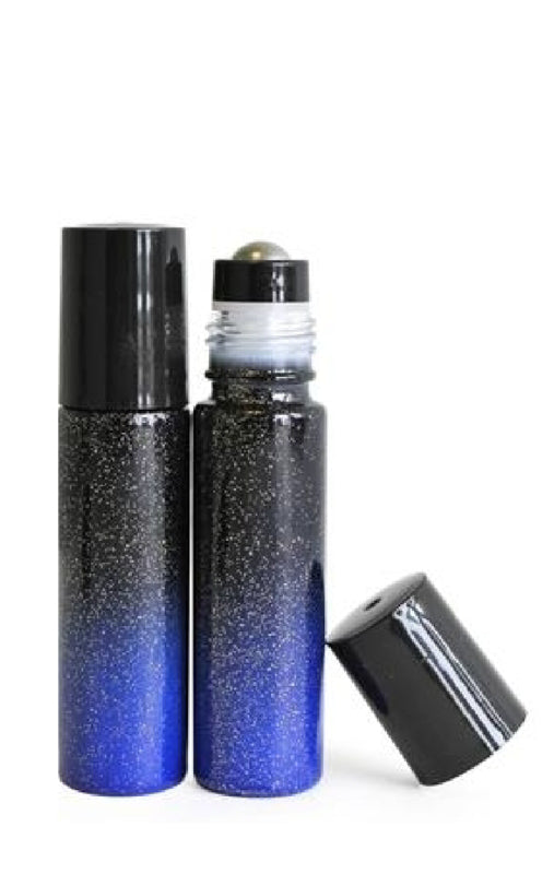 GLASS ROLLER BOTTLE OMBRE - Fade to Black - 10 ml