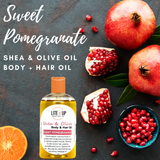 SWEET POMEGRANATE Shea + Olive Oil for Body and Hair