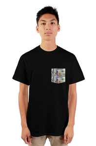 $100 bills pocket T-shirt - The Dressed Entrepreneur