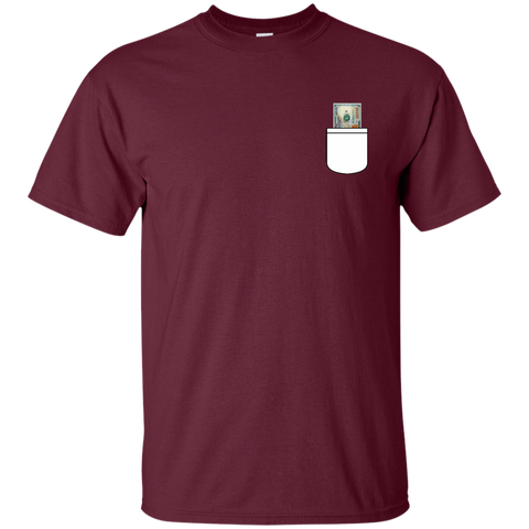 $100  Bill Fake Pocket T-shirt - The Dressed Entrepreneur