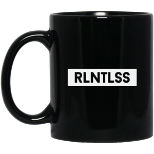 RLNTLSS Black Mug (White background) - The Dressed Entrepreneur