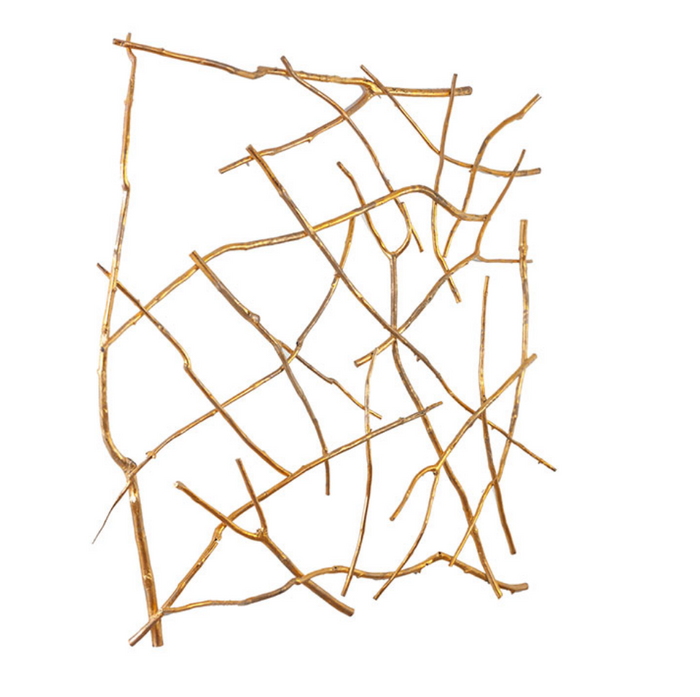 Branch Wall Art Gold