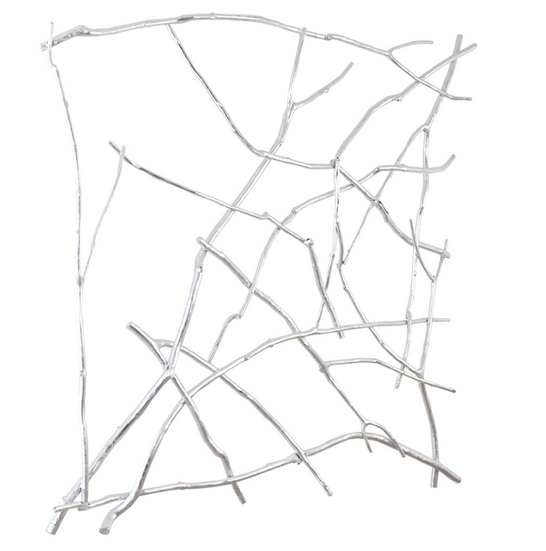 Branch Wall Art Silver