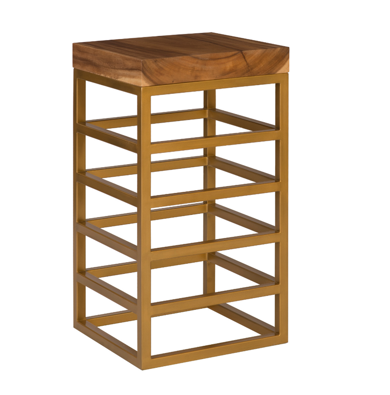 Cube Bar Stool Gold